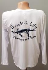 Brackish Life Performance UV L/S, White/USA Definition, Crab