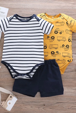 Riolio Baby Boy 3pcs Rompers & Shorts