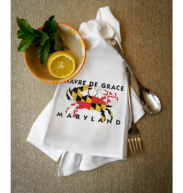 Havre De Grace Crab Flag Hand Towel