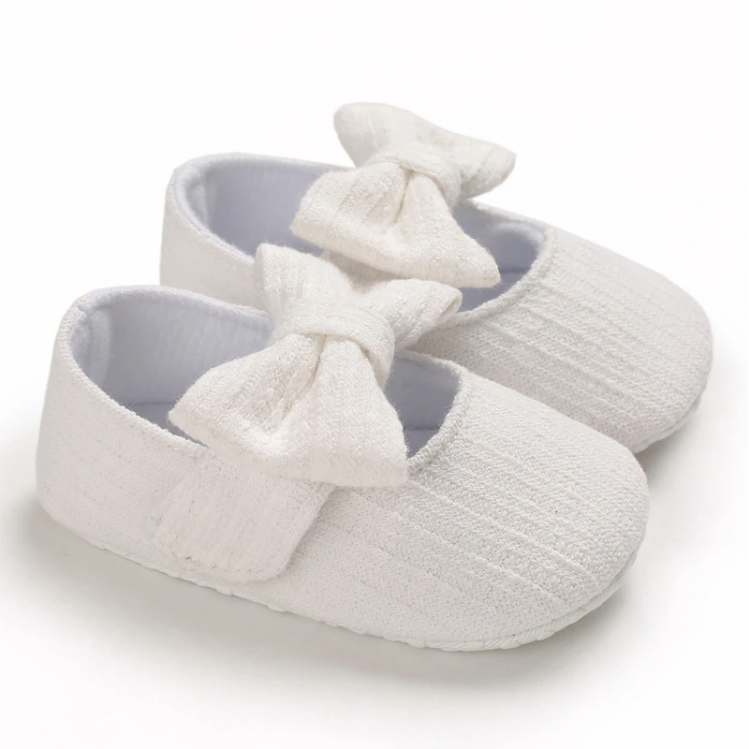Riolio Bowknot Decor Slip-on Shoes for Baby Girl