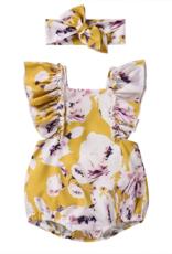 Riolio 2-piece Floral Bodysuit & Headband for Baby Girl