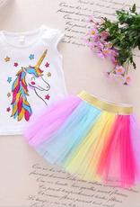 Riolio 2-piece Unicorn Pattern Set for Toddler Girl