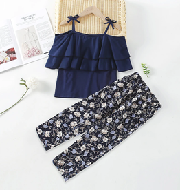 Riolio Girl 2pcs Cami Top & Floral Print Pants