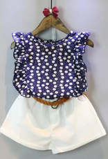 Riolio 2-piece Floral Sleeveless Top & Shorts