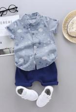 Riolio Toddler Boy 2pcs Short Shirt & Shorts