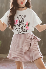 Riolio 2pc Stop & Smell the Roses T-shirt & Skirt