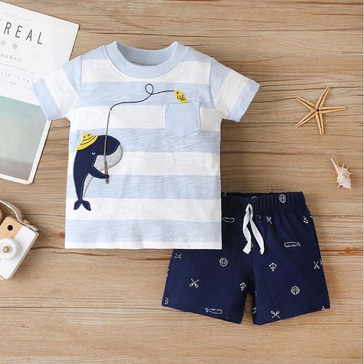 Riolio 2pc Whale T-shirt & Shorts