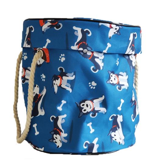 PatPat Children's toy storage bucket bag - dogs