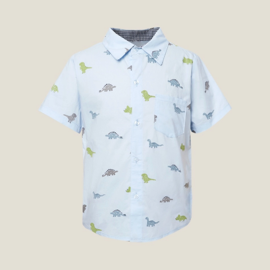 PatPat Dinosaur Allover Print Polo Shirt