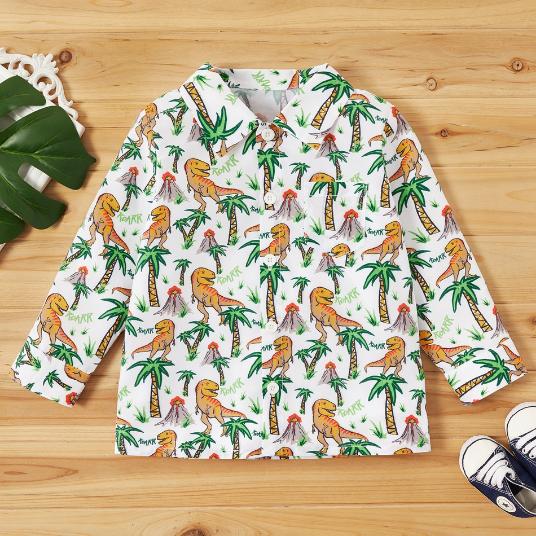 PatPat L/S Dinosaur Shirt