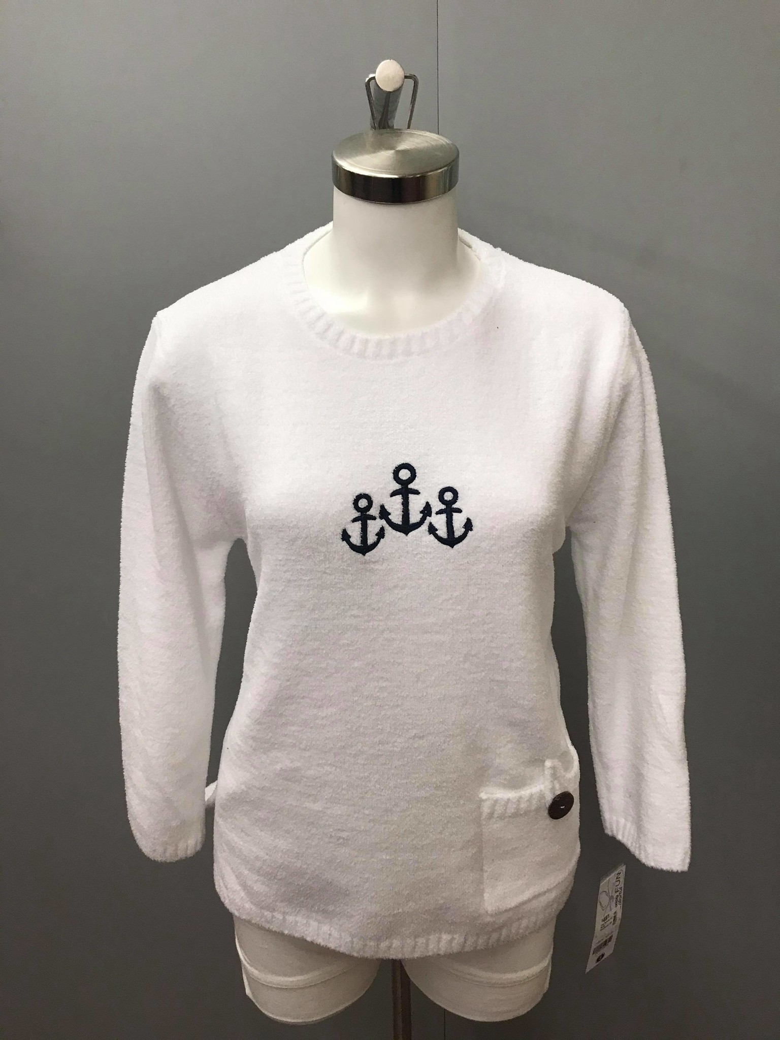 LuLu B. Emb Sweater W/ Pocket