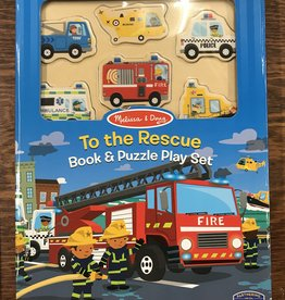 Melissa & Doug Book & Puzzle Play Set: To the Rescue