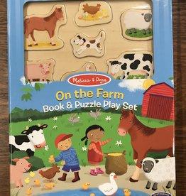 Melissa & Doug Book & Puzzle Play Set: On the Farm