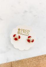 Prep Obsessed Crab Enamel Stud Earrings