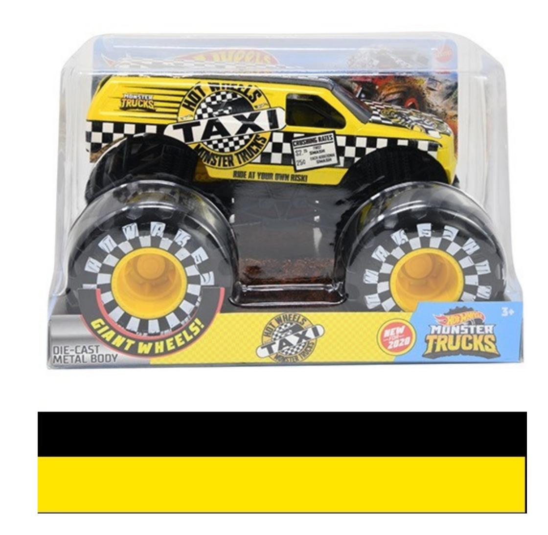 Mattel Hot Wheels Monster Truck 1:24 Taxi Vehicle