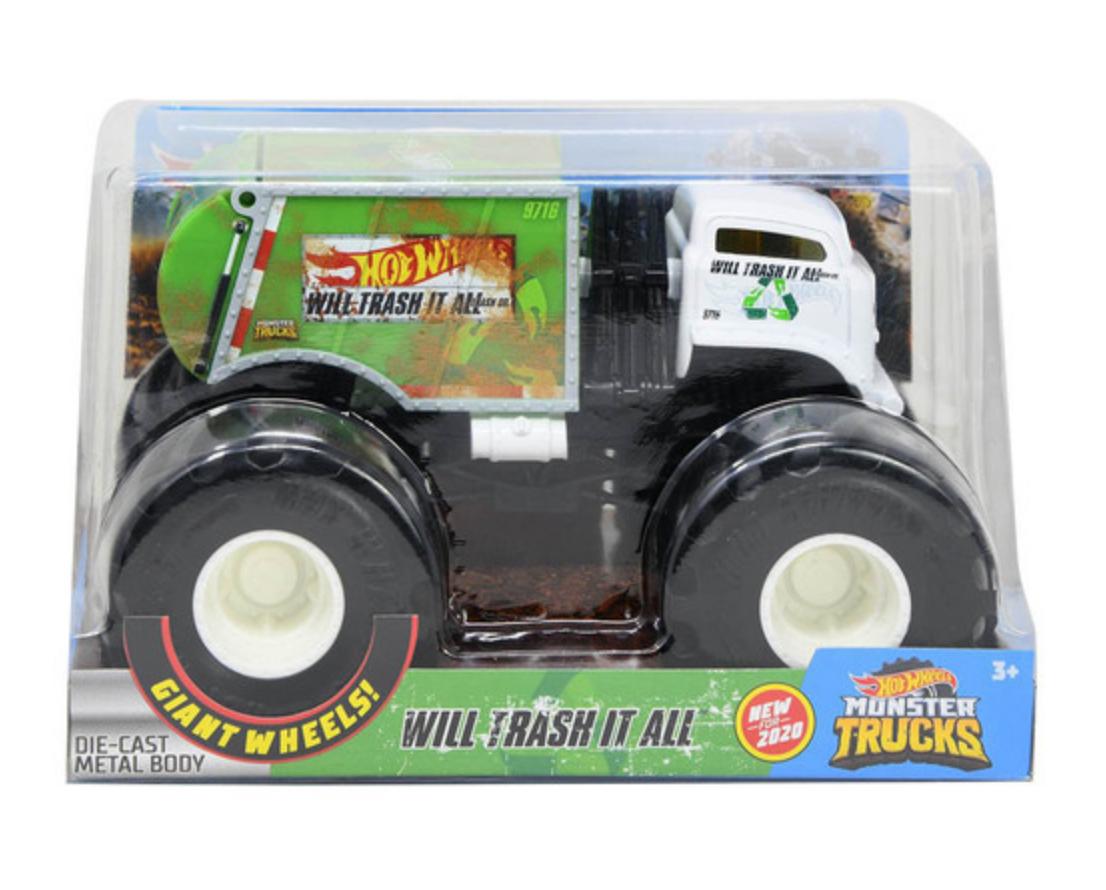 Mattel Hot Wheel  Monster Trucks Trash it all