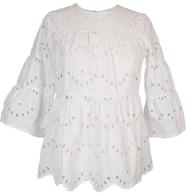 Simply Southern Lace 3/4 Sleeve Top