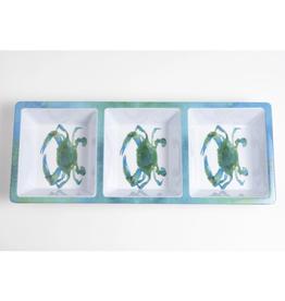 Galleyware Blue Crab Melamine Appetizer Tray