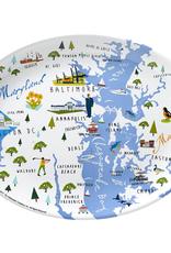 "Galleyware Chesapeake Bay 16"" Melamine Platter"