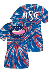 Simply Southern SS Lips Usa T-shirt