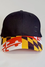 Basic Maryland Flag Brim (Black) / Baseball Hat