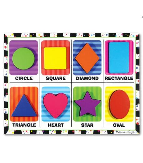 Melissa & Doug Chunky Puzzle- Shapes