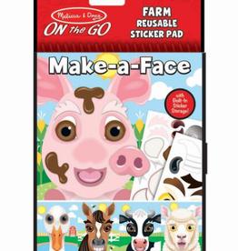 Melissa & Doug Make-a-Face Farm Reusable Sticker Pad