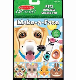 Melissa & Doug Make-a-Face Pets Reusable Sticker Pad