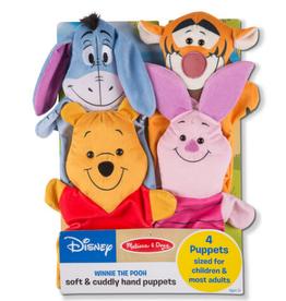 Melissa & Doug Winnie the Pooh Soft & Cuddly Hand Puppets