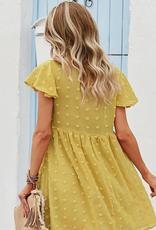 ePretty babydoll pom pom dress