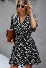 ePretty Ruffle V-neck Short Sleeve Bohemian Vacation Mini Dress