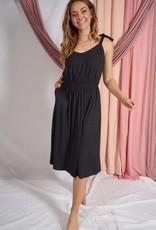 White Birch Sleeveless solid knit dress W/ sweetheart neckline
