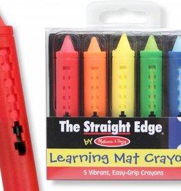 Melissa & Doug Learning Mat Crayons (5 colors)