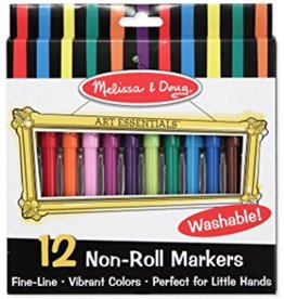 Melissa & Doug Non-Roll Markers (12pc)
