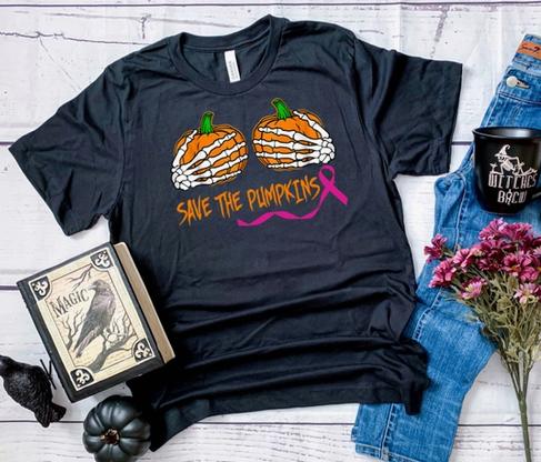 midwest tees save the pumpkins black tee