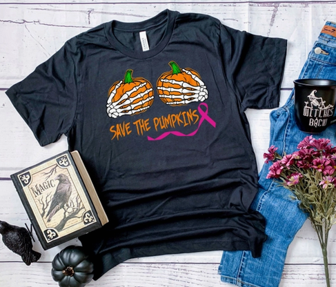 midwest tees Save the Pumpkins black tee PLUS