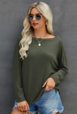ePretty Olive loose-neck sweater