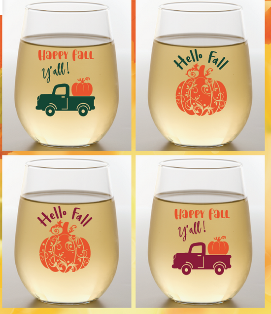 Wine-Oh! Shatterproof Wine Glass-HAPPY FALL Y'ALL