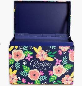 Steel Mill & Co. Recipe Box - Mint Floral