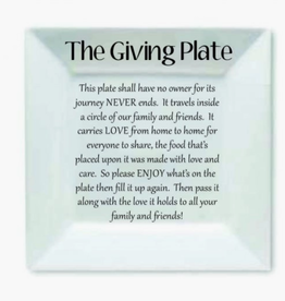 """Prissy Plates Gifts & More 12"""" White Square Giving Plate"""