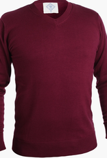 Mio Marino Autumn Hues -Neck Sweater, Burgundy, Large