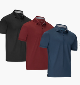 Mio Marino Designer Golf Polo Shirt, Denim, XLarge