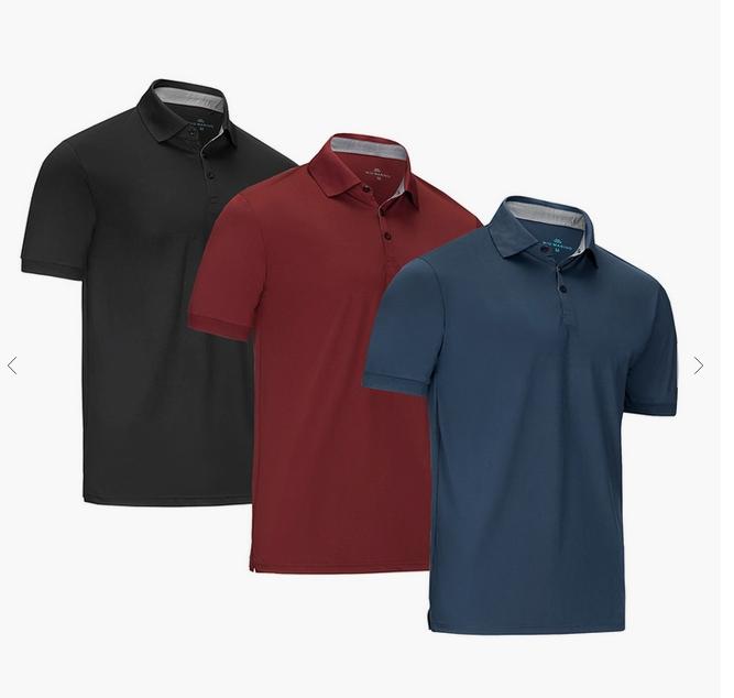 Mio Marino Designer Golf Polo Shirt, Navy, 3XL