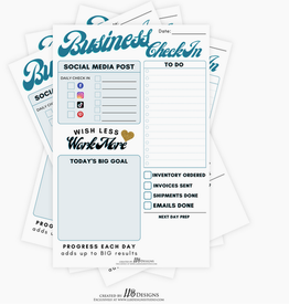 LLB Designs Studio Notepads / Business Check