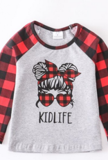 Honeydew kids clothing Mom Life Kids Life Red Plaid Set