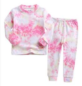 Salon de bebe Pink/Yellow Tie Dye Pj Set