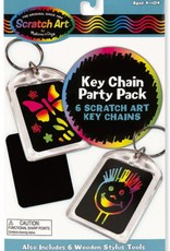 Melissa & Doug KEY CHAIN - SCRATCH ART PARTY PACK