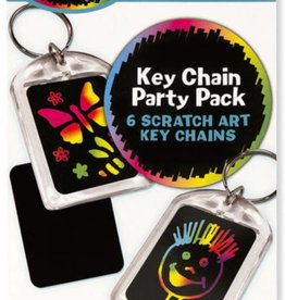 Melissa & Doug KEY CHAIN - SCRATCH ART PARTY PACK