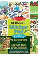 Melissa & Doug Reusable Sticker Pad - Habitats