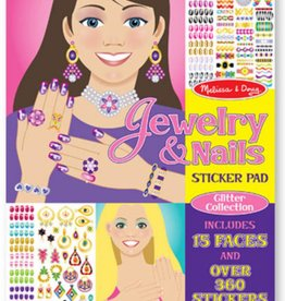 Melissa & Doug Jewelry & Nails Glitter Coll Sticker Pad